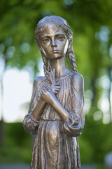 Detail of Memorial to victims of famine in Ukraine.
