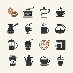 Coffee - web icons set