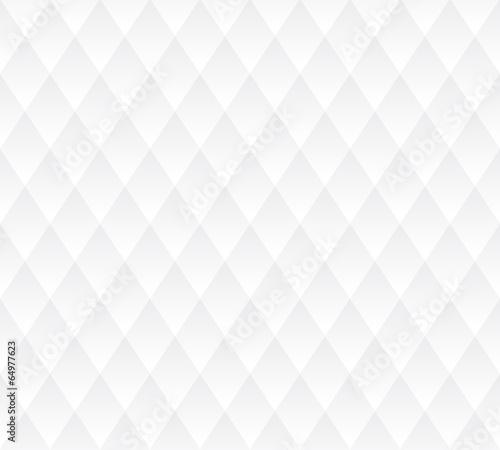 Vector seamless background, white geometric texture. - 64977623