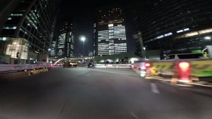 Twilight drive of Tokyo