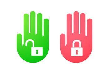 Hand icon set