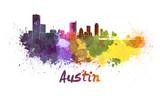 Fototapety Austin skyline in watercolor