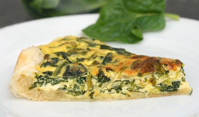 Healthy home made vegetarian meal - piece of pie