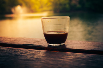 Coffee by the lake