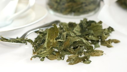 Organic aromatic black tea dried leaves