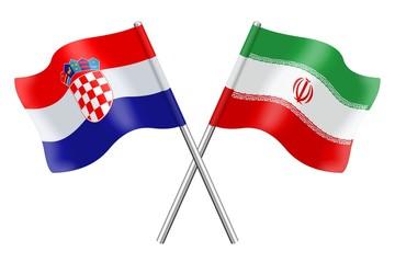 Flags: Croatia and Iran