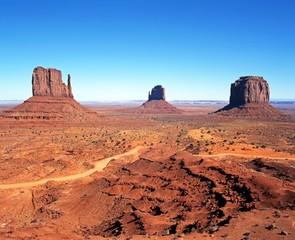 Desert landscape, Monument Valley, Arizona.