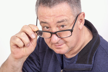 Portrait men with glasses