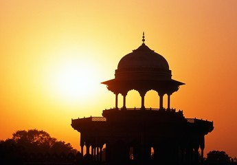 Taj Mahal dome at sunset, Agra, India © Arena Photo UK