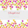 Seamless horizontal floral background with summer flowers