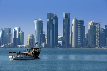 Modern city in Doha