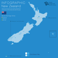 Infographics New Zealand Map