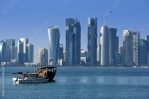 Fotobehang Midden Oosten Modern city in Doha