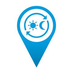 Icono localizacion simbolo tienda 24 h