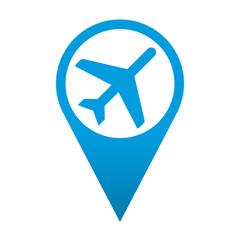 Icono localizacion simbolo aeropuerto