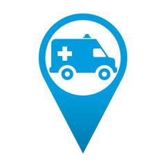 Icono localizacion simbolo ambulancia
