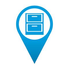 Icono localizacion simbolo archivador