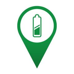 Icono localizacion simbolo pila electrica