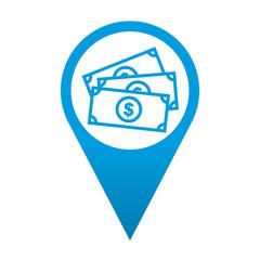 Icono localizacion simbolo dinero