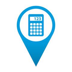 Icono localizacion simbolo calculadora