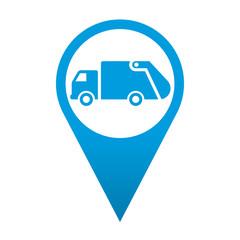 Icono localizacion simbolo camion de la basura