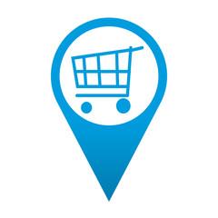 Icono localizacion simbolo carro de la compra