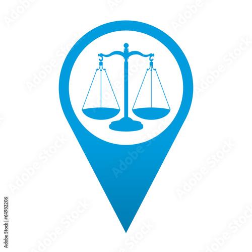 Icono localizacion simbolo justicia
