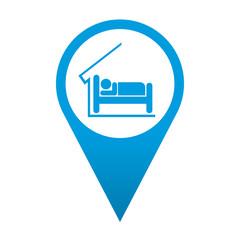 Icono localizacion simbolo hotel