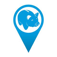 Icono localizacion simbolo hucha