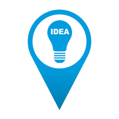 Icono localizacion simbolo idea