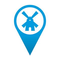 Icono localizacion simbolo molino