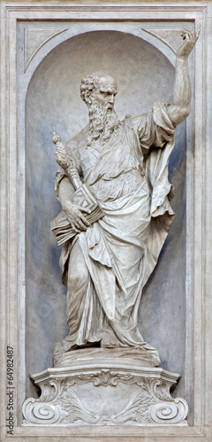 Venice - Statue of Saint Paul in Gesuati church