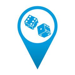 Icono localizacion simbolo dados