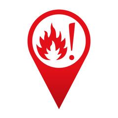 Icono localizacion simbolo superficie caliente