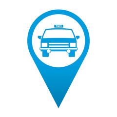 Icono localizacion simbolo taxi