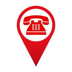 Icono localizacion simbolo telefono de emergencia