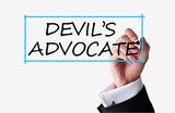 Devil advocate concept text on transparent background poster