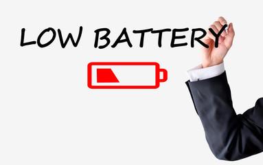 Replace batteries concept