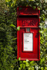 Red British post box