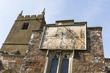Sundial. St Mathhew's Chruch, Cheriton Fitzpaine, Devon, England