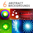 Shiny smooth color abstract vector backgrounds