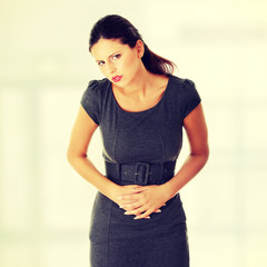 Woman with stomach issues