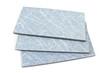 Blue ceramic tiles on white