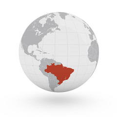 Mappamondo America, Brasile