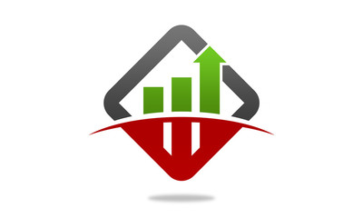 business grow chart logo