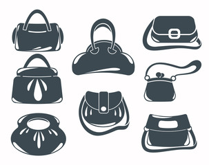 woman accessories, bags and purse