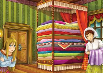 Cartoon fairy tale - illustration for the children