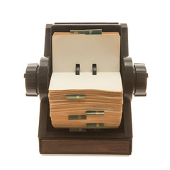 Old original rotary rolodex