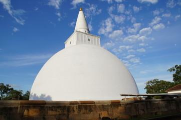 Weisse Dagoba in Anuradhapura Sri Lanka