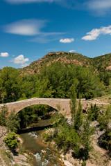 Puente De La Fonseca Sobre El Río Mijares. Teruel. España.